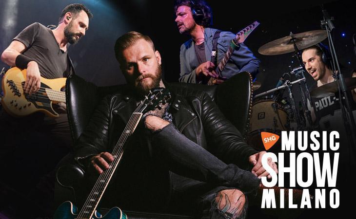 Kris Barras sul palco con una super band