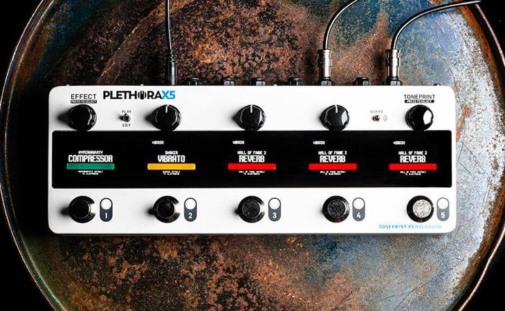 Plethora X5: è arrivata la Toneprint Pedalboard