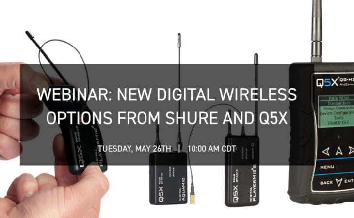 Shure: webinar sui trasmettitori Q5X