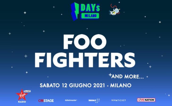 Foo Fighters: confermata la data agli I-Days per il 12 giugno 2021