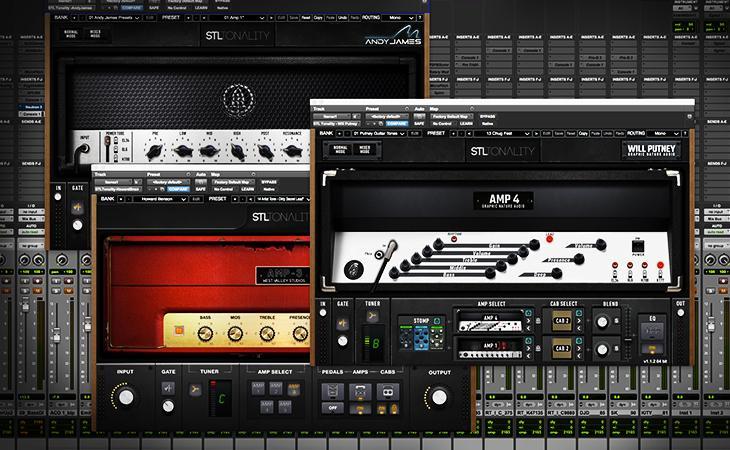 Tre amplificatori virtuali signature da STL Tones