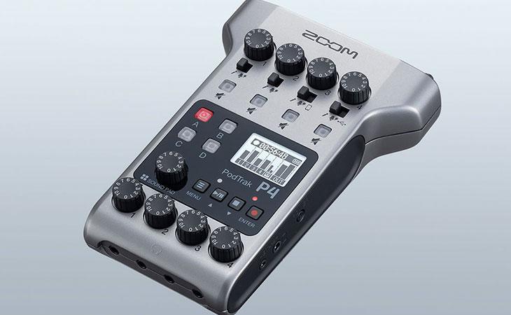 PodTrak P4: il registratore da podcast di Zoom